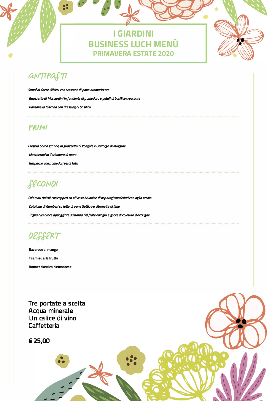 Hotel I Giardini business-lunch
